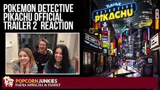 Pokemon Detective Pikachu OFFICIAL TRAILER 2   Nadia Sawalha & Family Reaction