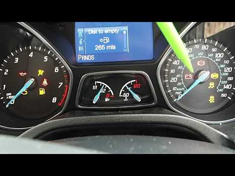 Checking Dashboard Warning Lights In The Ford Focus Automatic Car