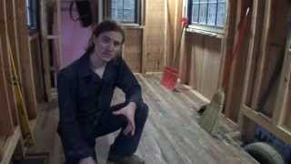 Installing Reclaimed Wood Flooring In A Tiny House