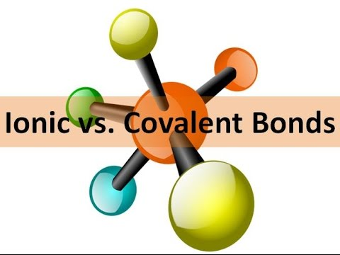 Covalent Vs Ionic Bonds Youtube