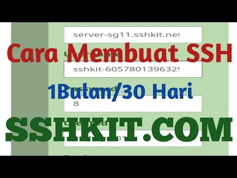 Cara Terbaru Daftar SSH Premium 1 Bulan/30 Hari Di sshkit Gratis + Proxy  SQUID Port 80