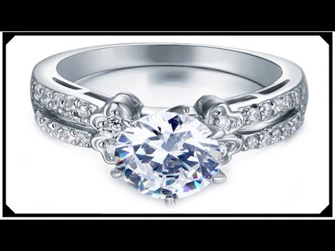 Best Engagement Ring Buy Cheap Synthetic Diamond Silver 925 jewelry White Gold Filled