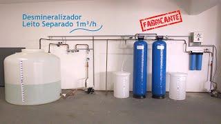 Desmineralizador Leito Separado com Tratamento Bacteriológico (FABRICANTE) Consulte-nos!