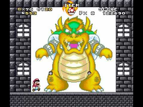 Super Mario Bros. The Invaders Of The Mushroom Kingdom - All Bosses