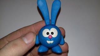 Смешарик Крош. Лепим смешного и забавного смешарика Кроша. Smesharik Krosh from clay !!!