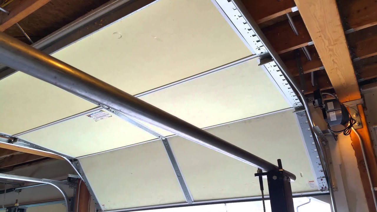 high lift garage door openerHigh lift Garage Door and Side Mount Opener  YouTube