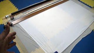 Pantalla motorizada casera para proyectores multimedia