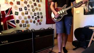 brian may rig with two vox ac30