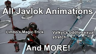 All Javlok Idle Animations (Saryn Is Missing)