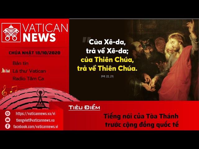 Radio: Vatican News Tiếng Việt Chúa Nhật 18.08.2020