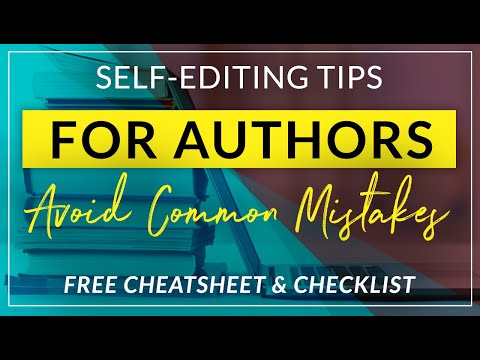 self editing tips for self publishing authors