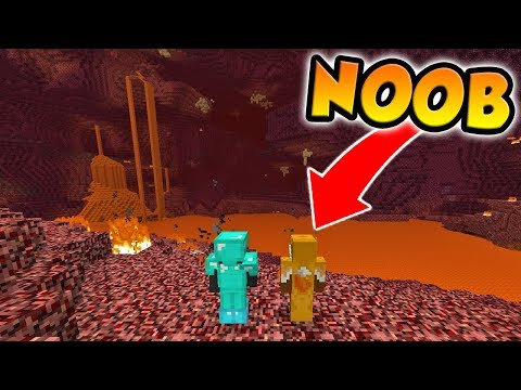 A PRO AND A NOOB GO TO THE NETHER TOGETHER! (Buried Alive #4)