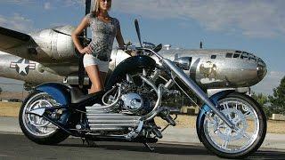 Custom Motorcycle Chopper Hot Bikes Girls Slideshow Customize Harley Motorrad HD