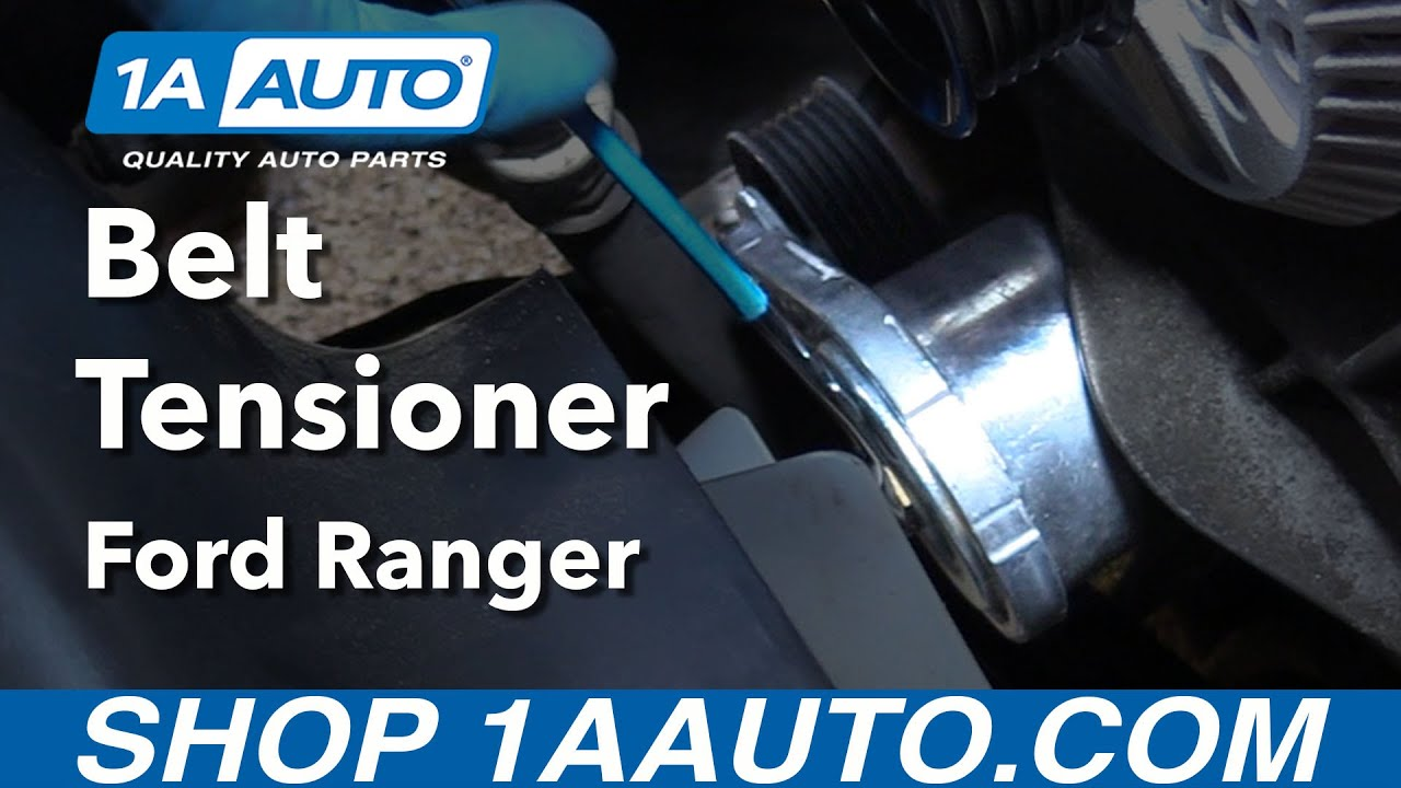 how to install replace belt tensioner 2001 11 ford ranger v6 4 0l rh youtube com
