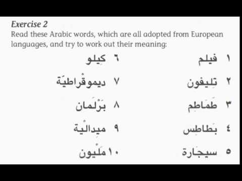 Similar words - arabic and english