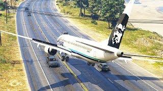 737 Emergency Landing On Busy Highway | GTA 5