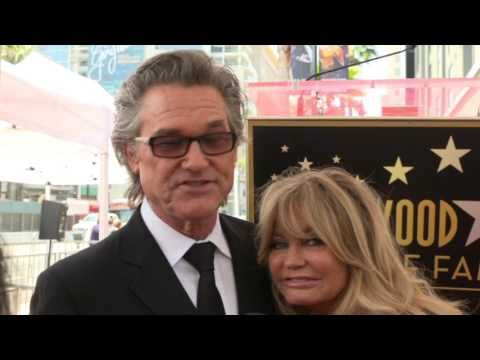 Goldie Hawn & Kurt Russell get Star on Hollywood Walk of Fame Interviews