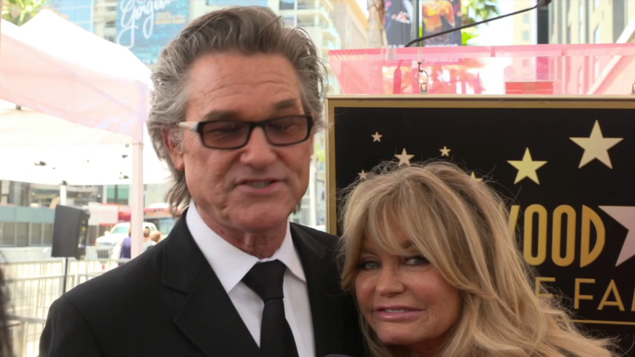 Goldie Hawn & Kurt Russell get Star on Hollywood Walk of Fame ...