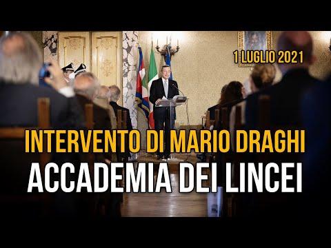Intervento di Mario Draghi all'Accademia dei Lincei