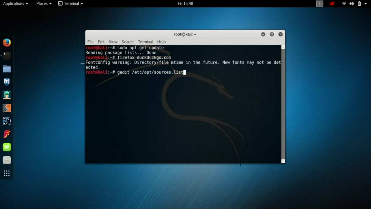 How To Add Official Source Repositories And Fix Update Problem In Kali Linux