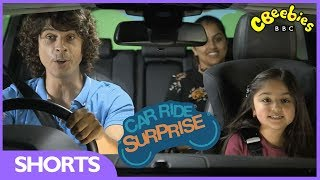CBeebies | Car Ride Surprise with Andy Day and Malaika