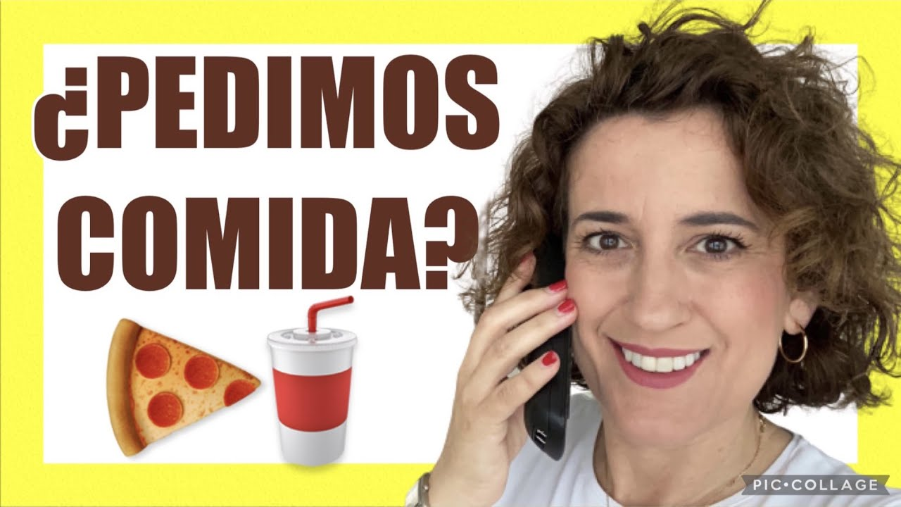 🍔¿Cómo PEDIR comida A DOMICILIO en español? 👉Entrega de comida a domicilio.Pedir comida por teléfo