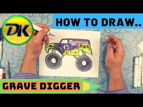 How To Draw Grave Digger