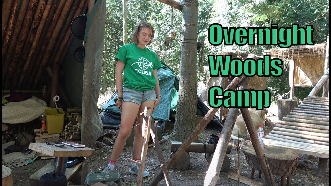 Two Night Camp Out In the Woods - YouTube
