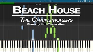 The Chainsmokers - Beach House (Piano Cover) Synthesia Tutorial by LittleTranscriber