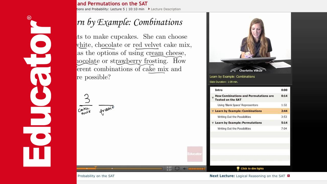 SAT - Permutations and Combinations (with worksheets, videos ... Mathway Combinations on