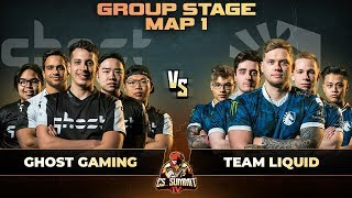 Ghost vs Liquid, Map 1 Overpass - cs_summit 4: Group Stage - Ghost Gaming vs Team Liquid G1