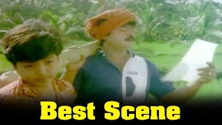 Ponmana Selvan Movie : Shobana Giving Love Letter To Vijayakanth Scene