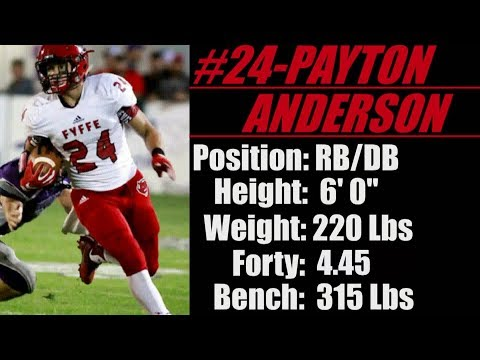 2019-Street Light Recruiting- DB/RB- Payton Anderson **DEFENSE**-Fyffe High School (AL)