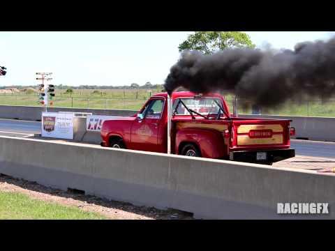 "1978 Dodge Lil Red Express ""100PSI"" at Bayou Drag Houston 2013"
