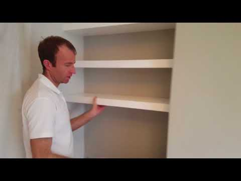 How to make chunky floating alcove shelves