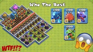 Who The Best Air Attack Difficult Trap Clash of Clans Private server
