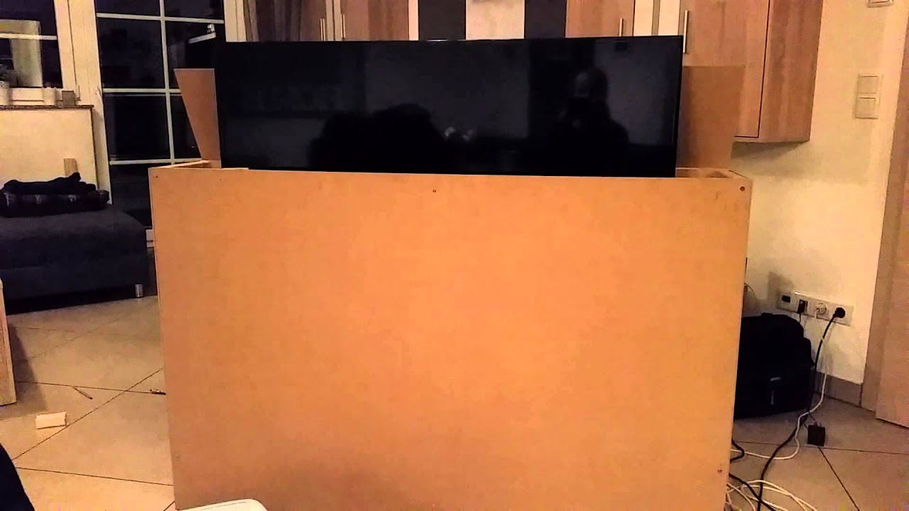 lcd tv lift do it yourself 50 zoll youtube. Black Bedroom Furniture Sets. Home Design Ideas