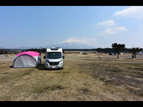[車中泊]キャンピングカーでオートキャンプ/ふもとっぱらキャンプ場
