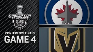 Winnipeg Jets vs Vegas Golden Knights – May. 18, 2018 | Game 4 | Stanley Cup 2018. Обзор
