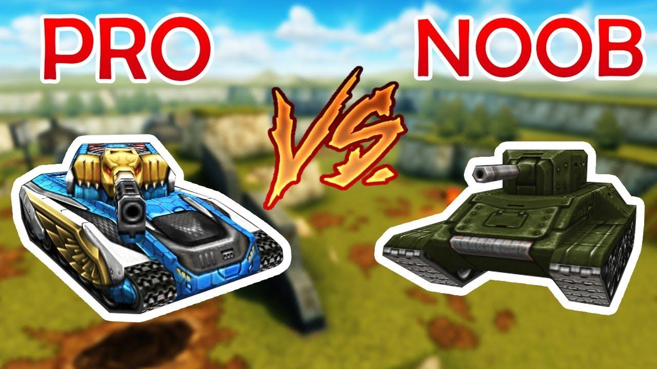 Tanki Online Pro Vs Noob танки Онлайн Youtube