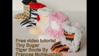 Franklysweet tiny tiger boots for cupcakes