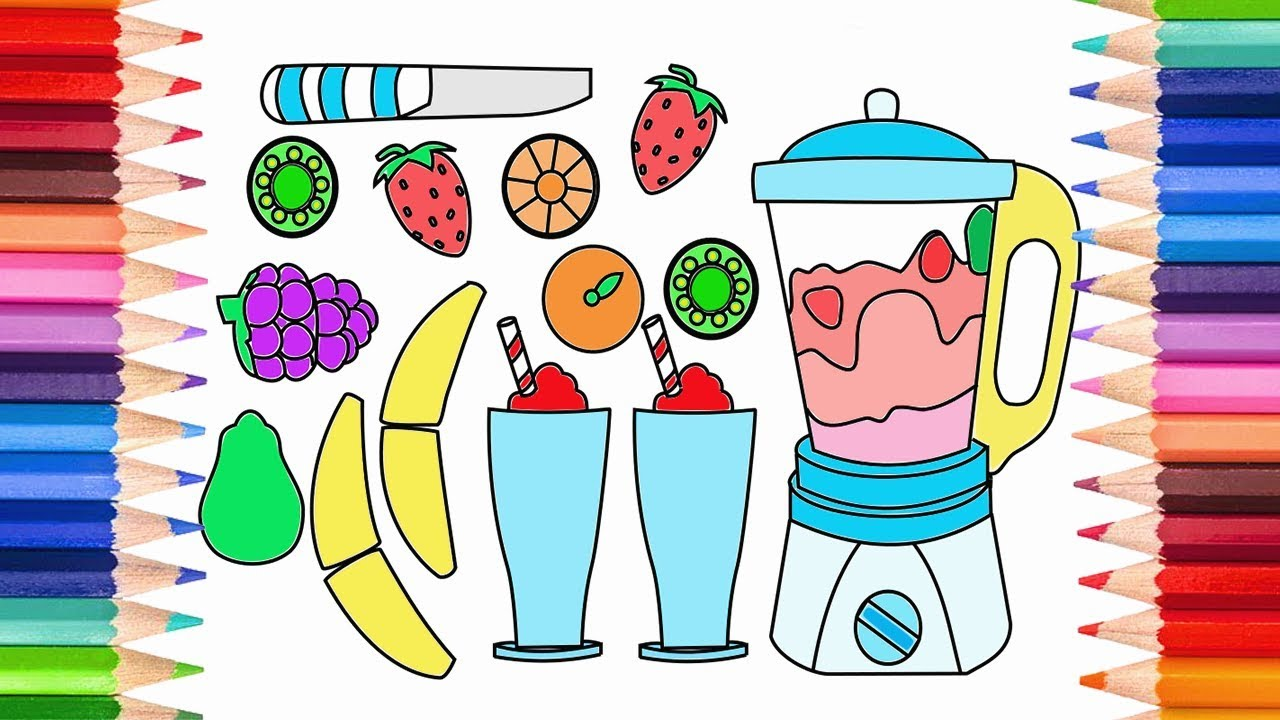 How To Draw A Blender Toy And Fruit Smoothies