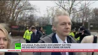 'Sex was consensual': Assange reveals 'denial of rape' claims given to Swedish prosecutor