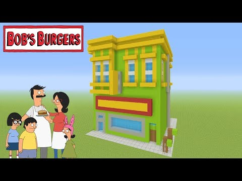 "Minecraft Tutorial: How To Make Bobs Burgers Restaurant ""Bob's Burgers"""