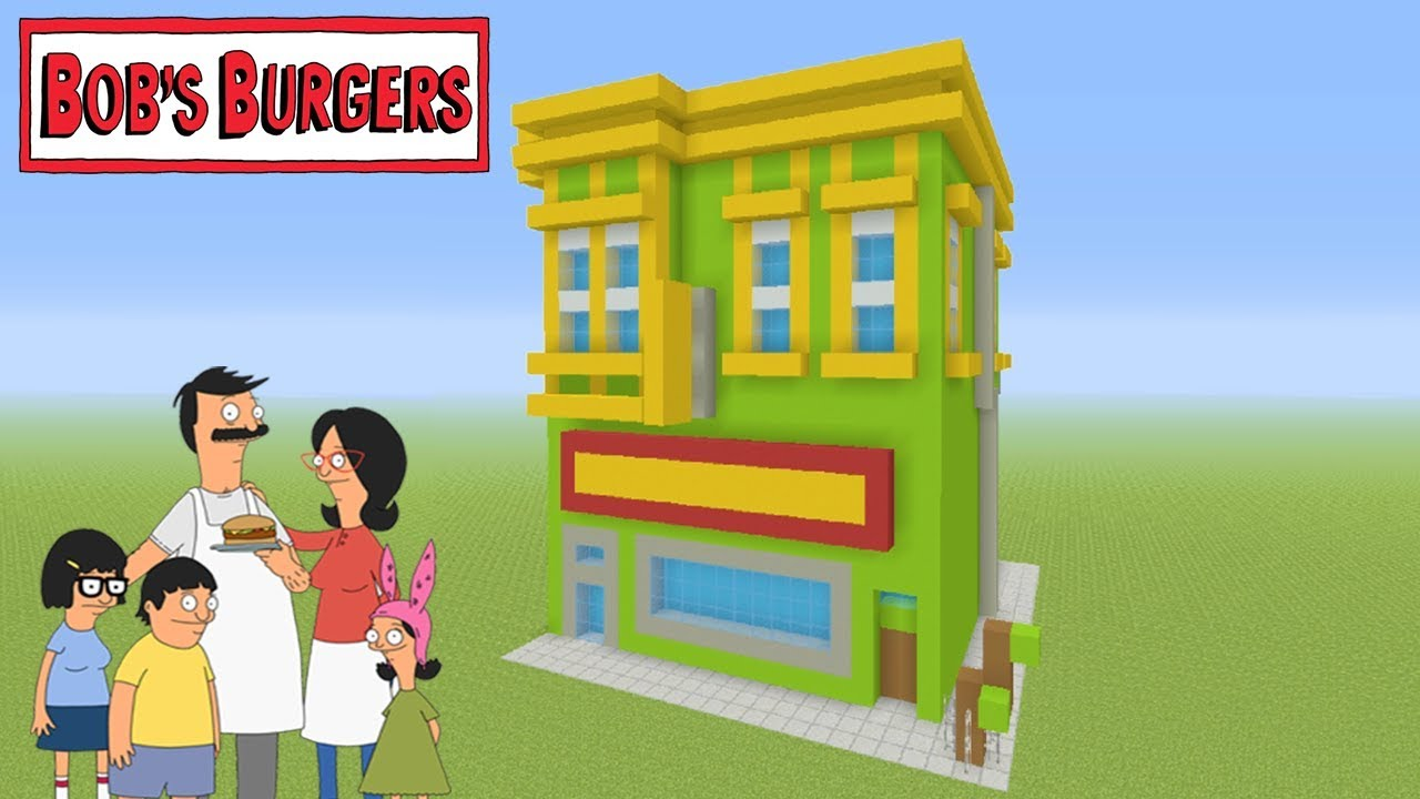 Minecraft Tutorial How To Make Bobs Burgers Restaurant Bob S Burgers Youtube