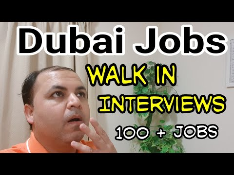 Dubai Jobs Walk in Interviews BIG Update | 100 plus Jobs in Dubai