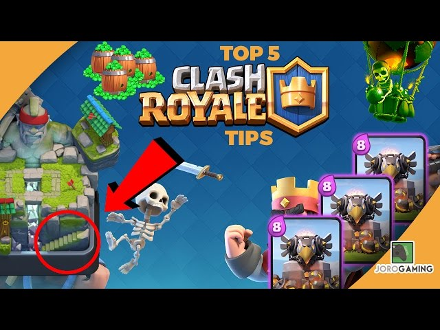 HOW to WIN at CLASH ROYALE - Top 5 Tips To Winning