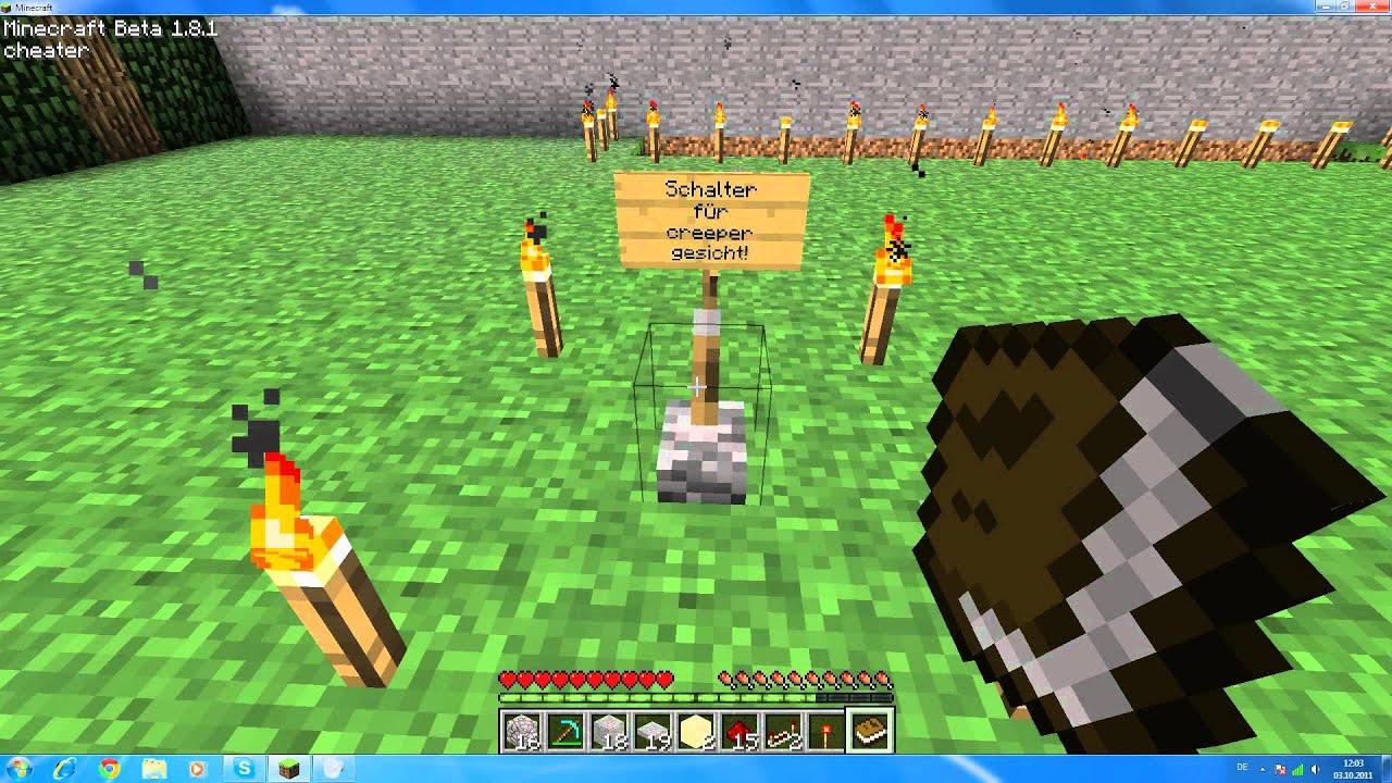 Minecraft Creeper Gesicht - YouTube