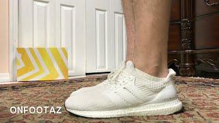 ultra boost 4.0 white on feet