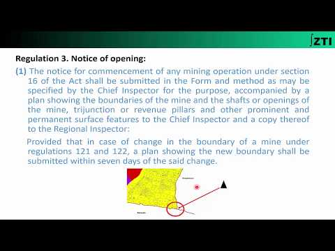Regulations 3 & 4 (Coal Mines Regulations 2017)  Chapter-2